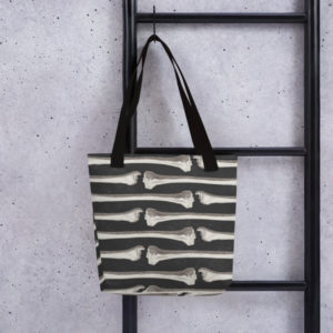 Elliz Clothing Lined up Bones Gothic Tote bag