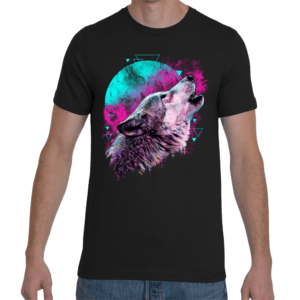 Elliz Clothing Renacimiento Camiseta unisex de lobo
