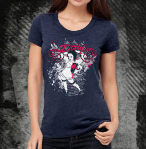 elliz clothing dirty angel tri-blend t-shirt women