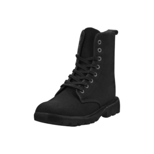 Elliz Clothing Solid Black Combat Martin Ankle Boots