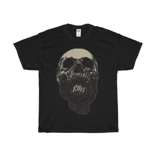 Elliz Clothing soul eater skull rose t-shirt