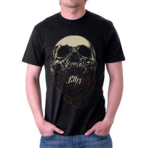 Elliz Clothing soul eater skull rose t-shirt Black