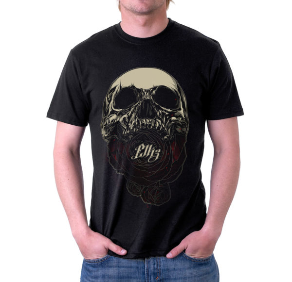 Elliz Clothing soul eater skull rose t-shirt Black