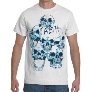 Elliz Clothing Dead Faith Skulls White T-Shirt