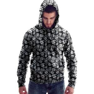Elliz Clothing Army Skulls skater Hoodie