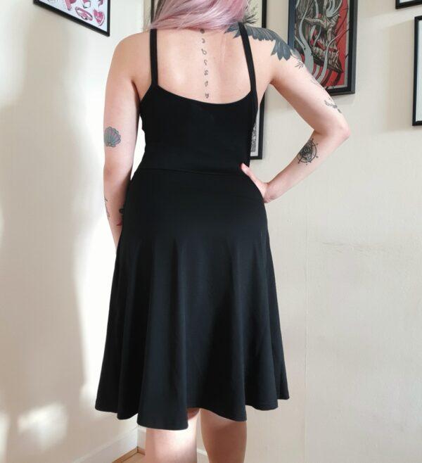 Elliz Clothing Crisscross Pentacle Gothic Dress Back