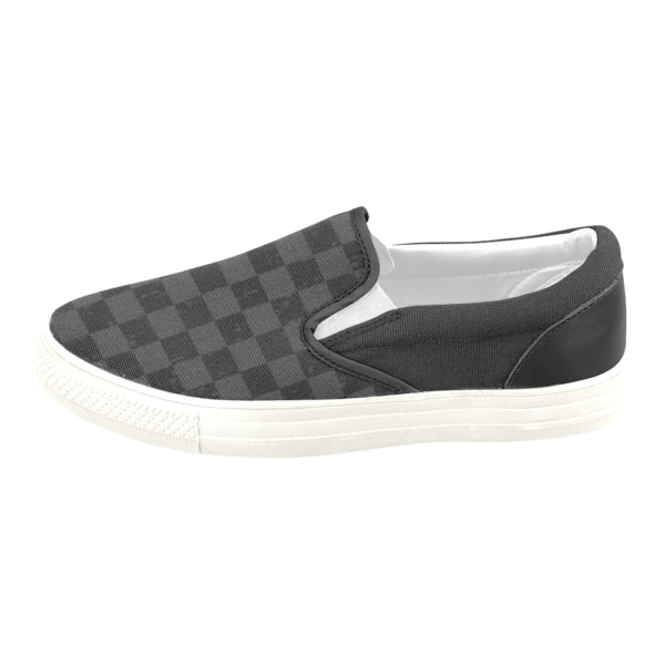 Elliz Clothing Grungy Checkers Classic Slip On Skateboarding Sneakers