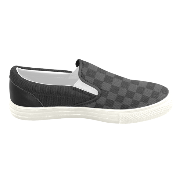 Elliz Clothing Grungy Checkers Classic Slip On Skateboarding Sneakers 07