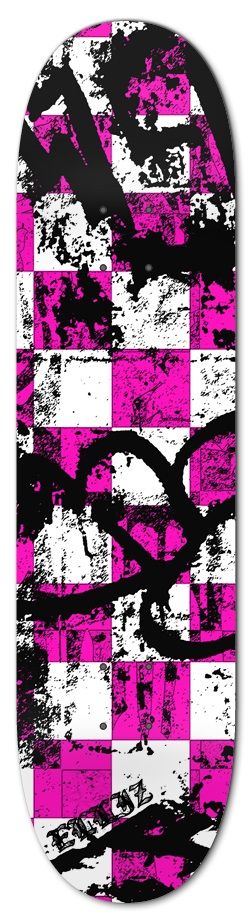 Elliz Clothing Pinky Messy Grungy Skateboard