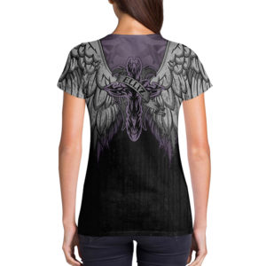 Elliz Clothing Purple Heart v-neck t-shirt