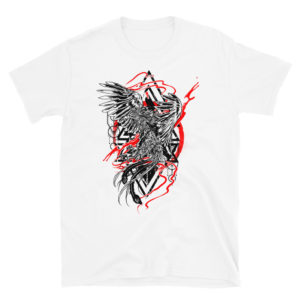 Elliz Clothing Raging Phoenix tattoo graphic T-shirt