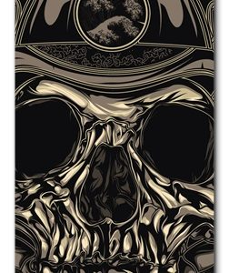Elliz Clothing Samurai Skull Skateboard