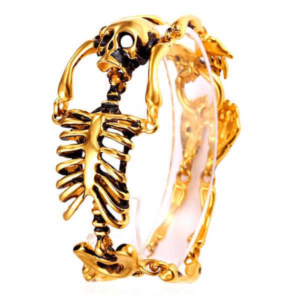 Elliz Clothing Stainless Steel Gothic Skeleton Bracelet