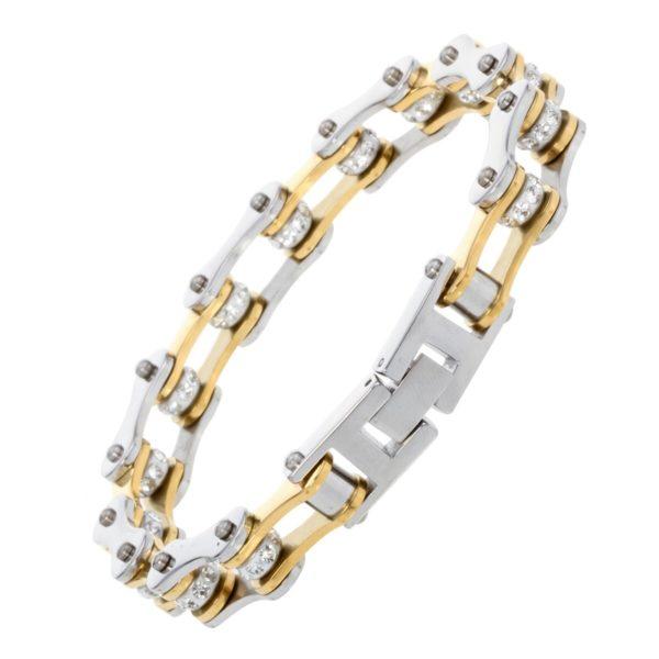 Elliz Clothing Stainless Steel Link Chain Biker Bracelet