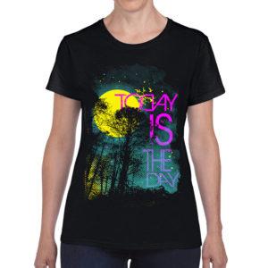 Elliz Clothing Today is the Day Camiseta Estampada Preta