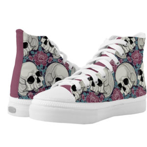 Elliz Clothing Skulls Roses high-top Sneakers