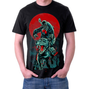 Elliz Clothing Zombie Mariachi Pitbull Dog t-shirt