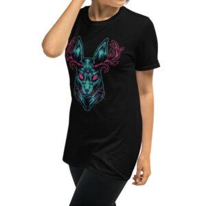 Jackalope Horned Rabbit Unisex Graphic T-Shirt