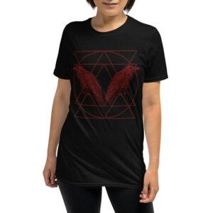Elliz Clothing Corvos vermelhos Camiseta Unissex