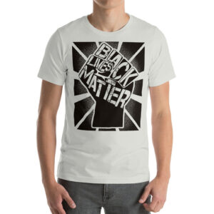 Black Lives Matter Graphic Unisex BLM T-Shirt Silver