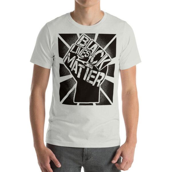 Black Lives Matter Graphic Unisex BLM T-Shirt Silver