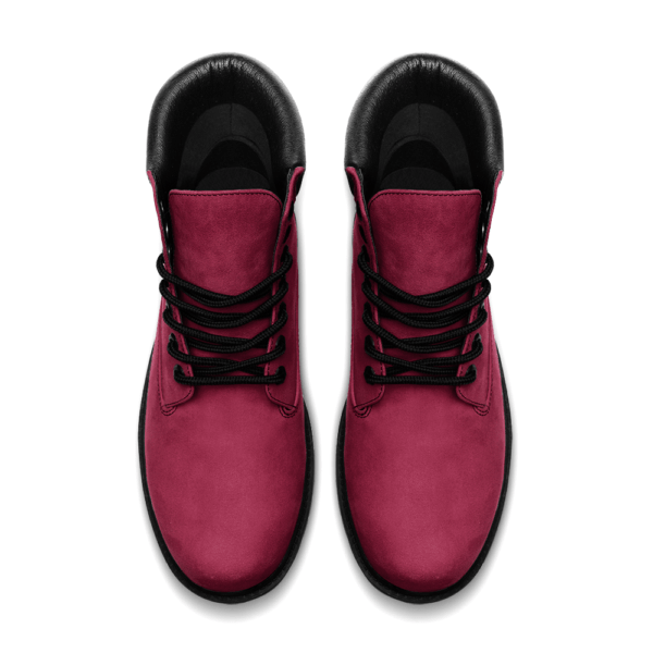 Elliz Clothing Burgundy Leather Lightweight Ankle boots