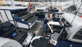 Facility DTG printing machines