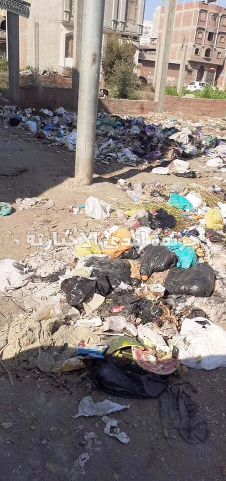"""في غياب محافظ دمياط  القمامة تحاصر قرية"""" غيط النصاري"""