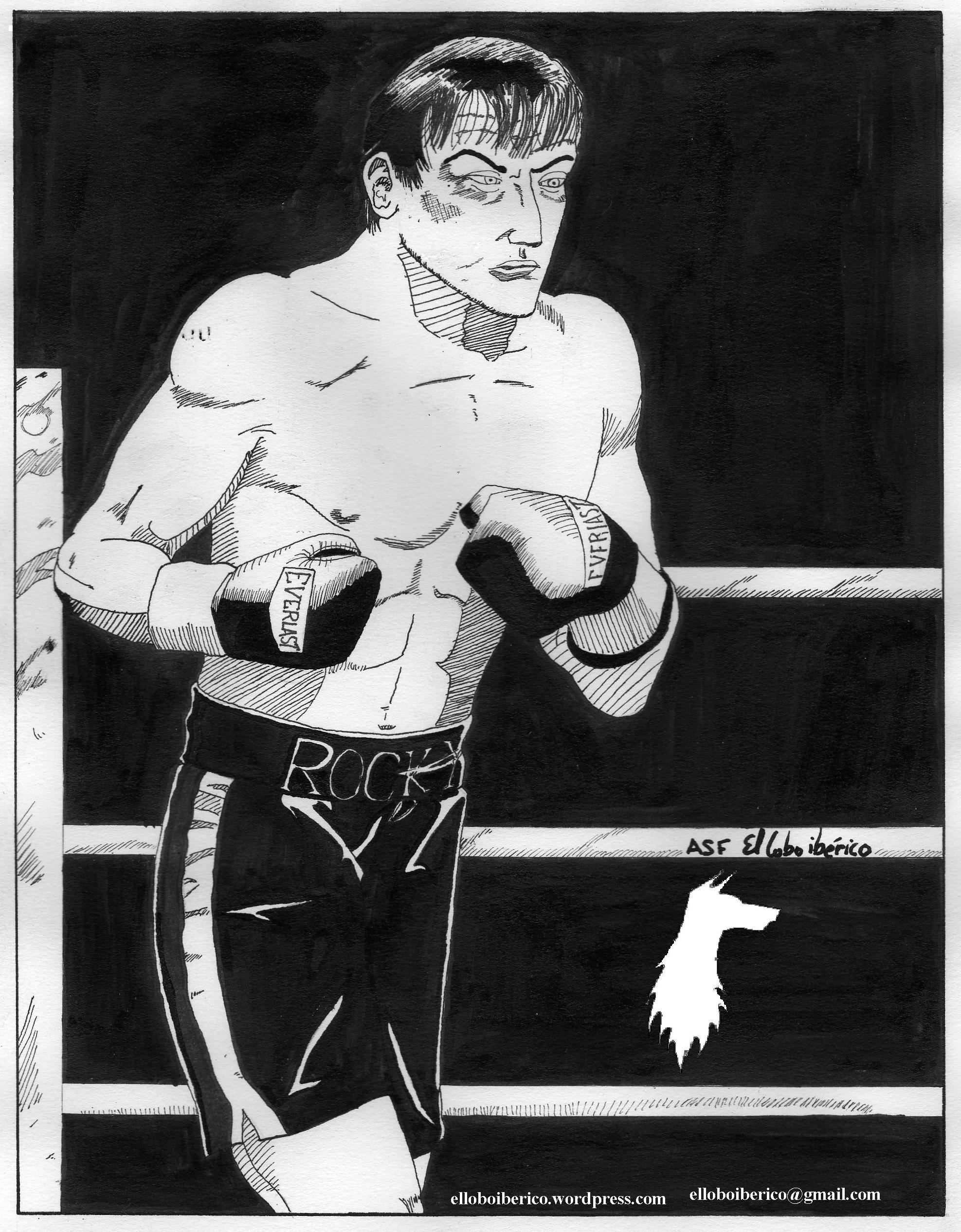Mi dibujo de Rocky Balboa. 2007 09. »