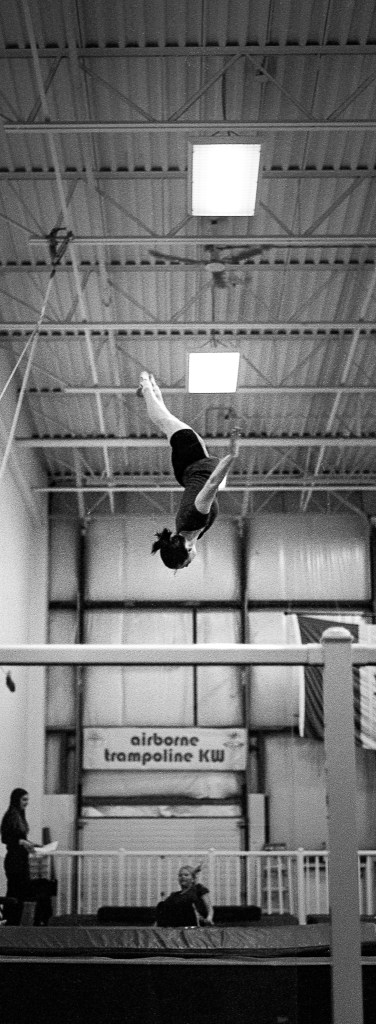 woman acrobatic trampoline
