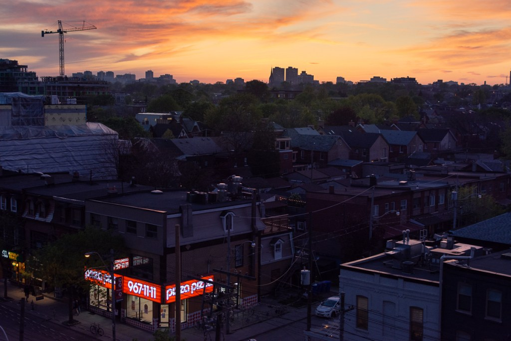 A sunset over western Toronto.