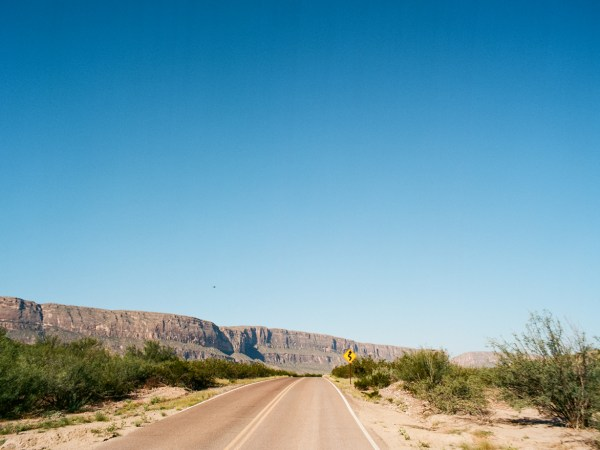 Ross Maxwell Scenic Drive in Big Bend National Park.