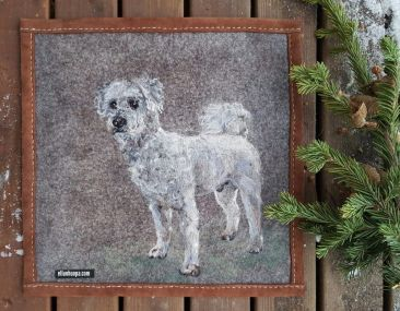 Eläinaiheiset taulu koirataulut, koti ja sisustuus, taide, huopataulu