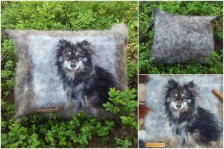 Pillow with pet portrait | Elena Bondar
