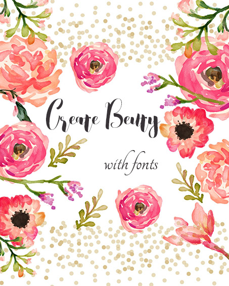 ellwed ellwed-blog1 Create Beauty with Fonts + Free Printable