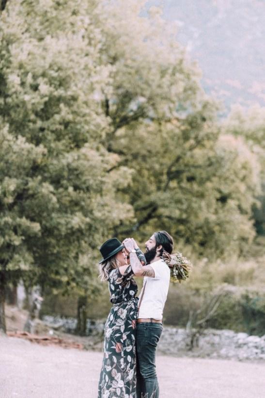 ellwed 49 Bohemian Mountain Hill Engagement Shoot in Ioannina