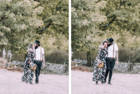ellwed 54 Bohemian Mountain Hill Engagement Shoot in Ioannina