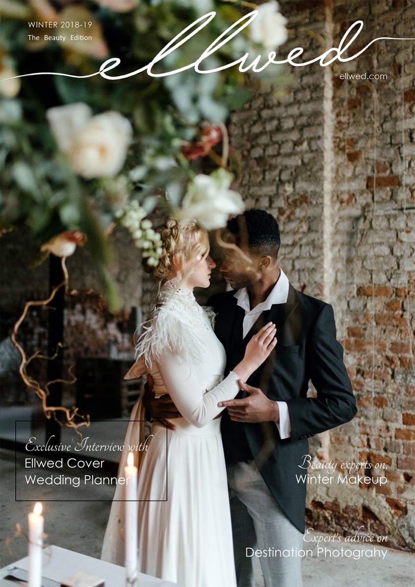 Bride and Groom on the Ellwed Winter 2018/2019 Cover in Thessaloniki