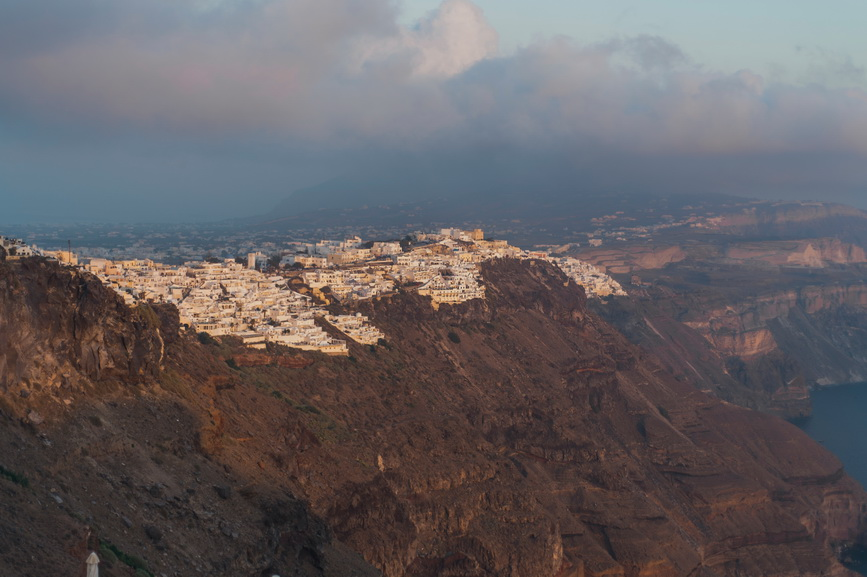 View of Santorini at Hellenic Chic Elopement