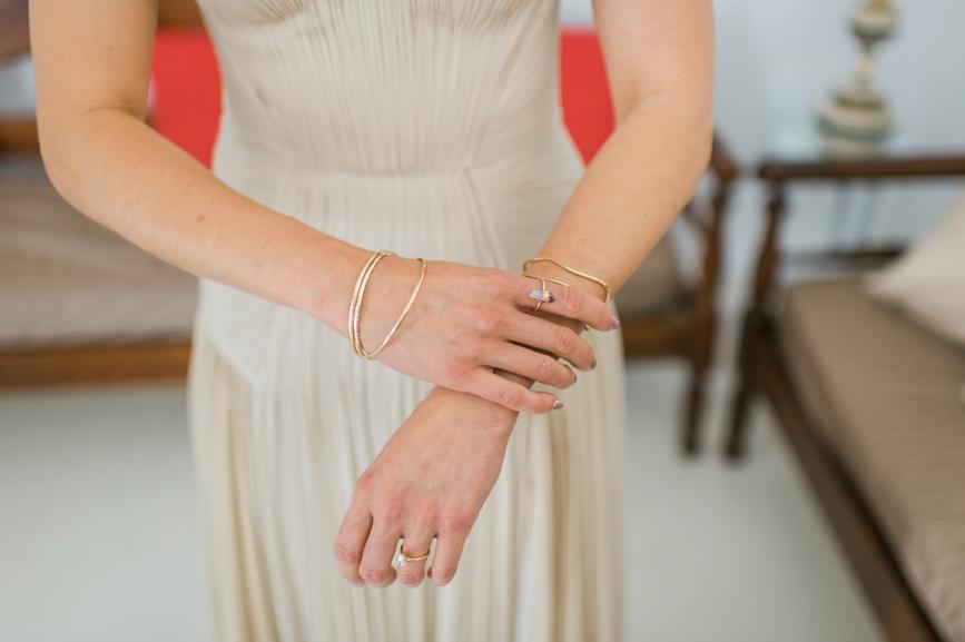 Hellenic Chic Elopement Greek bracelets