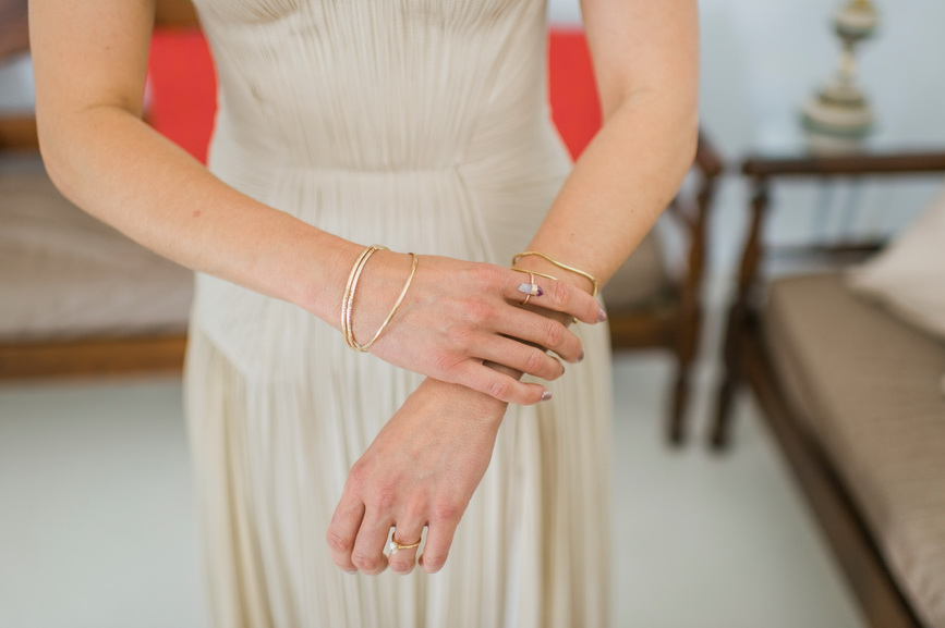 Hellenic Chic Elopement Greek bracelets