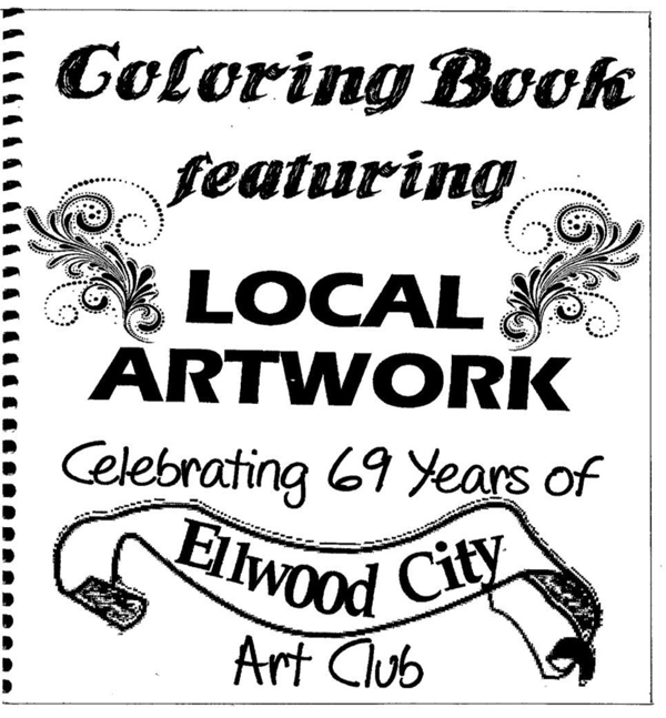 REMINDER: Ellwood City Art Club Coloring Book ON SALE For