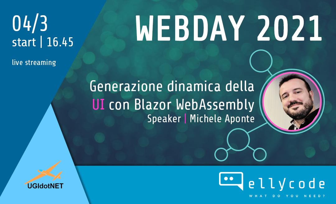 Generazione dinamica della UI al Web Day 2021