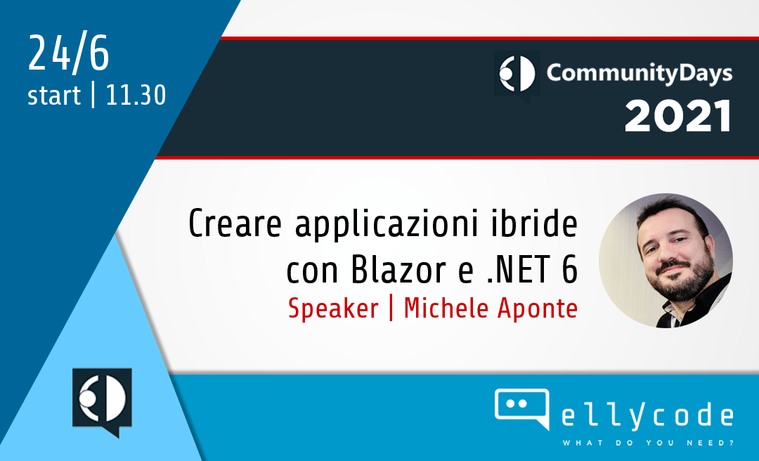 Blazor e .NET6 al Community Days 2021