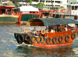 Sampan ride in Aberdeen Harbour Hong Kong