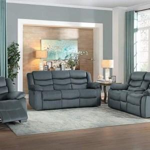 grey six seater recliner sofa