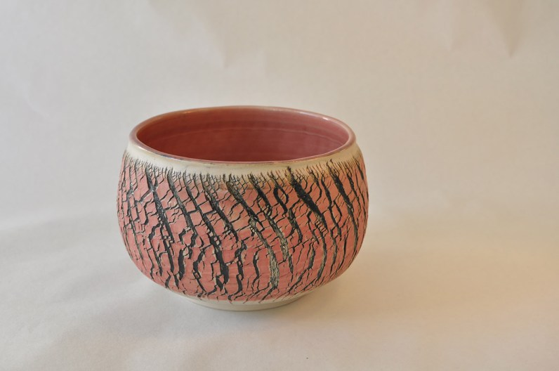 Keramik skål med røde detaljer - Elly Pedersen Keramik