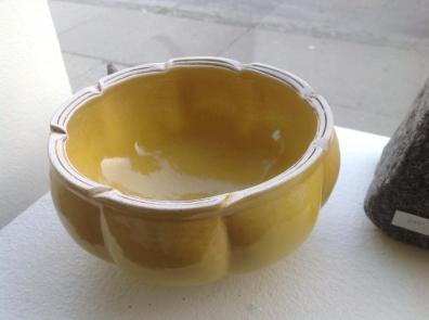 Gul keramik skål - Elly Pedersen Keramik