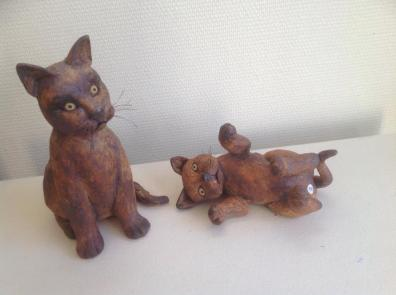 Keramik katte - Elly Pedersen Keramik