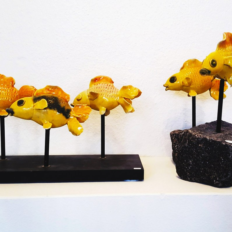 Keramik fisk - Elly Pedersen Keramik